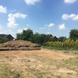 Wyrównywanie działki pod budowę domu jednorodzinnego w Krzyżanowicach - BAUMAG - fot.2