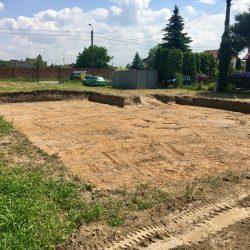 Wyrównywanie działki pod budowę domu jednorodzinnego w Krzyżanowicach - BAUMAG - fot.4