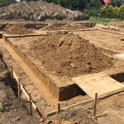 Wykonanie fundamentów pod budowę domu jednorodzinnego w Krzyżanowicach - BAUMAG - fot.1