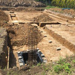Wykonanie fundamentów pod budowę domu jednorodzinnego w Krzyżanowicach - BAUMAG - fot.2