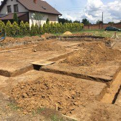 Wykonanie fundamentów pod budowę domu jednorodzinnego w Krzyżanowicach - BAUMAG - fot.4