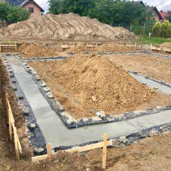 Wykonanie fundamentów pod budowę domu jednorodzinnego w Krzyżanowicach - BAUMAG - fot.10