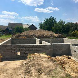 Wykonanie ścian fundamentowych pod budowę domu jednorodzinnego w Krzyżanowicach - BAUMAG - fot.2