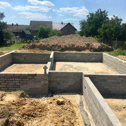 Wykonanie ścian fundamentowych pod budowę domu jednorodzinnego w Krzyżanowicach - BAUMAG - fot.3