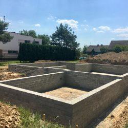 Wykonanie ścian fundamentowych pod budowę domu jednorodzinnego w Krzyżanowicach - BAUMAG - fot.4