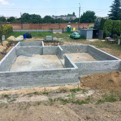 Wykonanie ścian fundamentowych pod budowę domu jednorodzinnego w Krzyżanowicach - BAUMAG - fot.5
