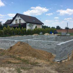 Wykonanie ścian fundamentowych pod budowę domu jednorodzinnego w Krzyżanowicach - BAUMAG - fot.6