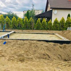 Zalanie fundamentów pod budowę domu jednorodzinnego w Krzyżanowicach - BAUMAG - fot.3