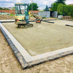 Zalanie fundamentów pod budowę domu jednorodzinnego w Krzyżanowicach - BAUMAG - fot.5