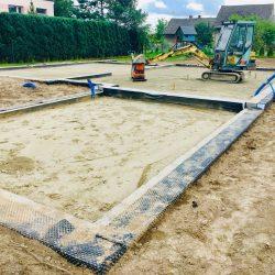 Zalanie fundamentów pod budowę domu jednorodzinnego w Krzyżanowicach - BAUMAG - fot.6