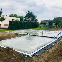 Zalanie fundamentów pod budowę domu jednorodzinnego w Krzyżanowicach - BAUMAG - fot.9