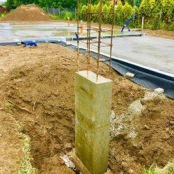 Zalanie fundamentów pod budowę domu jednorodzinnego w Krzyżanowicach - BAUMAG - fot.10