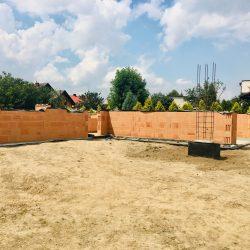Wykonanie ścian nośnych - stan surowy otwarty domu jednorodzinnego w Krzyżanowicach - BAUMAG - fot.5