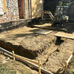 Wyrównywanie i przygotowanie działki pod rozbudowę domu jednorodzinnego w Wodzisławiu Śląskim - BAUMAG - fot.3