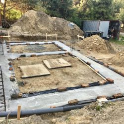 Zalanie fundamentów pod rozbudowę domu jednorodzinnego w Wodzisławiu Śląskim - BAUMAG - fot.1
