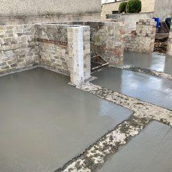 Zalanie fundamentów pod rozbudowę domu jednorodzinnego w Raciborzu - BAUMAG - fot.1