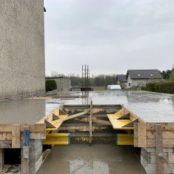 Zalanie stropu nad piwnicą. Nadbudowa domu jednorodzinnego w Raciborzu - BAUMAG - fot.1
