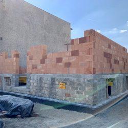 Budowa I kondygnacji domu jednorodzinnego w Raciborzu - BAUMAG - fot.1