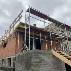 Wykonanie stropu nad parterem. Nadbudowa domu jednorodzinnego w Raciborzu - BAUMAG - fot.3
