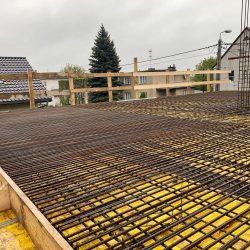 Wykonanie stropu nad parterem. Nadbudowa domu jednorodzinnego w Raciborzu - BAUMAG - fot.4