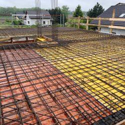 Wykonanie stropu nad parterem. Nadbudowa domu jednorodzinnego w Raciborzu - BAUMAG - fot.7