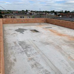 Zalanie stropu nad pierwszym piętrem. Nadbudowa domu jednorodzinnego w Raciborzu - BAUMAG - fot.2