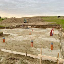 Wykonanie fundamentów i instalacji wod - kan pod budowę domu jednorodzinnego w Owsiszczach - BAUMAG - fot.1