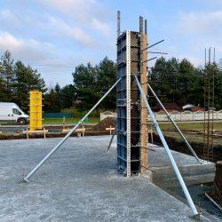 Wykonanie ścian fundamentowych pod budowę domu jednorodzinnego, Owsiszcze - BAUMAG - fot.1